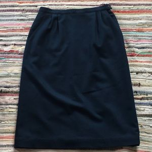 Vintage Pendleton navy wool skirt